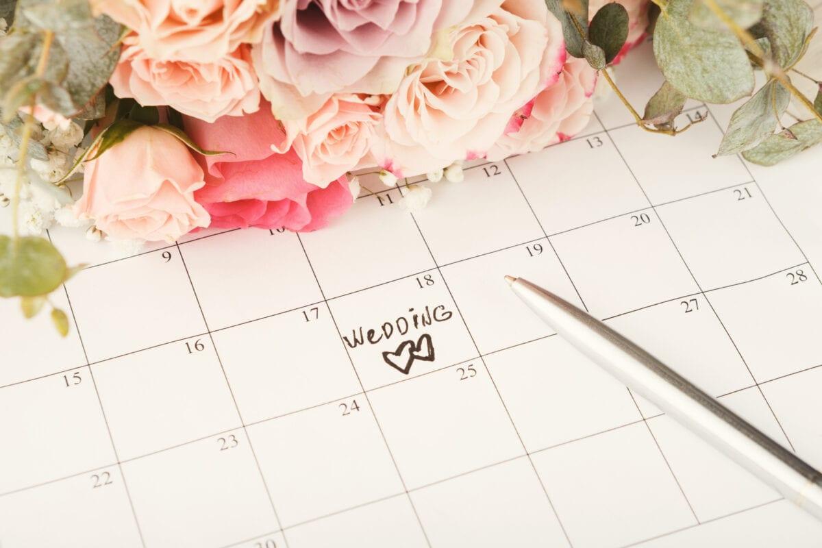 wedding date on calendar